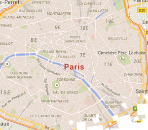 Short stay Paris apartments map search