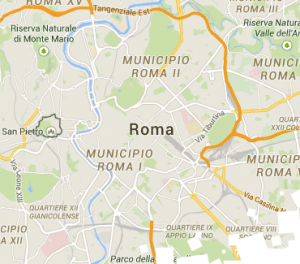 Short stay Rome apartments map search